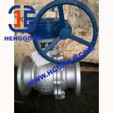 DIN/API6d Electircのアクチュエーターステンレス鋼のフランジの浮遊球弁