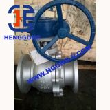 Vávula de bola del borde del acero inoxidable de DIN/API6d Electirc