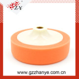 Tampón para pulir de la nueva del diseño del plato de la esponja del cepillo espuma innovadora anaranjada de la pista con precio bajo