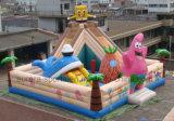 Riesiger aufblasbarer Vergnügungspark, kommerzieller aufblasbarer federnd Schloss-Luft-Spielplatz