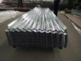 Feuille galvanisée ondulée de toiture en métal de plat en acier