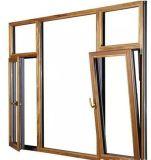 Heet de schuine stand-Draai van het Aluminium van de Verkoop Bruin Venster voor Villa
