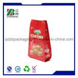 Levar in piedi in su il sacchetto con la serratura della chiusura lampo per l'imballaggio per alimenti