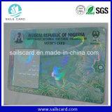 Pré-imprimindo o cartão plástico do holograma da segurança do PVC de Cmyk