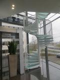 Escadaria espiral de vidro de alumínio modular do projeto moderno com certificado do Ce