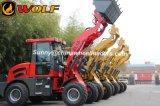 Lobo carregador da roda do Ce de 1.6 toneladas, carregador da roda para a venda