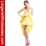 Costume incantevole di fiaba della principessa Belle del partito di Halloween delle donne