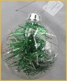 Hand - de gemaakte Duidelijke Bal van het Glas van Kerstmis