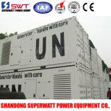 20 pés Containerized a central eléctrica de geração Diesel silenciosa do jogo e do MTU por Superwatt Potência