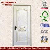 Porte en bois intérieure de forces de défense principale d'hôtel blanc de peinture (GSP8-040)