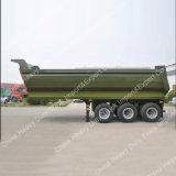 Cilindro hidráulico de Hyva da cor verde 80 toneladas que despejam o Semitrailer