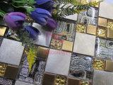 금 색깔 현대 디자인 스테인리스 혼합 유리제 모자이크 (CFM1014)