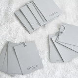 Hangtag de papel gris modificado para requisitos particulares cinco pedazos para la ropa