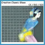 3mm 의 4mmclear Nashiji 유리제 장식무늬가 든 유리 제품 청동 파란 장식무늬가 든 유리 제품