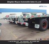 Rimorchio a base piatta del carico del tester resistente Suspension12.5 dell'asse in tandem con la rete fissa ed il palo per trasporto di contenitore o del carico all'ingrosso