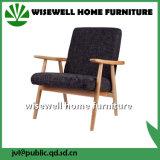 Cadeiras de jantar modernas da tela de madeira contínua da cinza (W-DC-05)