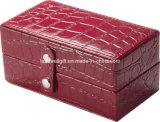 Фиксировать кожаный красные коробку/случай ювелирных изделий с вставками перемещения