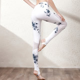 A ioga de nylon da mistura do Spandex arfa Legging das mulheres com impressão