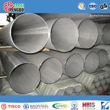 Tubulação de aço inoxidável de SUS304 304L 316 com certificado do ISO