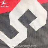 カスタムチーム可逆昇華不足分のロゴのバスケットボールのジャージのユニフォームのワイシャツ