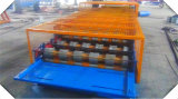Roulis à grande vitesse de profil de côte de Double couche de toiture salut formant la machine