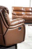 Brown Color Italy Leather Recliner Furniture Living Room