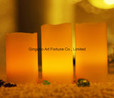 Flameless LEDの柱の蝋燭小さい柱