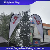 Bandeira dobro da gota do rasgo da impressão dos lados para o anúncio ao ar livre