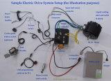 kit di conversione dell'automobile elettrica di 96V 10kw con il regolatore di Hpc, sistema di raffreddamento del ventilatore