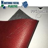 Cuir de PVC de configuration de litchi pour le sac cosmétique avec bon pliant la résistance