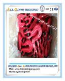 Crochet peint rouge d'encavateur de chape de Pin de noir
