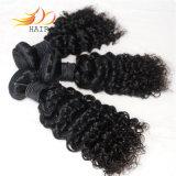 卸売100%のカンボジア人のバージンの人間の毛髪の巻き毛の自然な毛