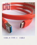 USB3.0 tipo a para pulsar a C el cable plano para Sony Xperia Xz