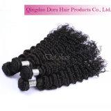 O cabelo humano personalizado dos estilos 100% empacota o cabelo do brasileiro do Virgin da onda de água