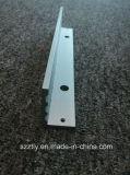 Perfil de aluminio de anodización de encargo de la protuberancia 6063 con trabajar a máquina