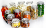 Clip Big Square Glass Storage Jar Kitchen Sweet Containers
