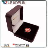 Rectángulo de madera plástico del paquete de la pieza inserta de EVA del terciopelo del rectángulo del efectivo del rectángulo de regalo de la mancuerna del rectángulo de la colección de moneda (el G7)