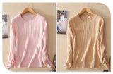 순수한 캐시미어 천 스웨터 여자 새로운 긴 소매 O 목을%s 가진 디자인에 의하여 뜨개질을 하는 스웨터 태양열 집열기
