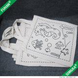 Изготовленный на заказ мешок Tote шнура притяжки хлопка логоса