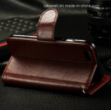 Plutônio Leather Caso de Luxury Flip da alta qualidade para o iPhone 6/6s Mobile Phone Cover do iPhone 5/Se Caso