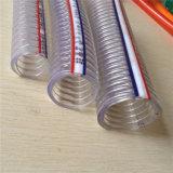 """1/2 """" - 8개의 """" PVC 플라스틱 강철에 의하여 강화되는 고압 농장 물 관개 나선 호스 관 관"""