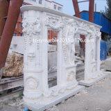 Белая мраморный каминная доска Surround камина (SY-MF009)
