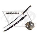 """40.55 """" punho de madeira total Katana com a lâmina Polished do aço de carbono: 4km98-405bl"""