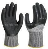 Костяшка окуная перчатку безопасности работы с нитрилом Sandy (ND8062)