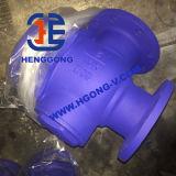 Valvola a sfera a tre vie della flangia dell'azionatore pneumatico dell'acciaio inossidabile di API/DIN