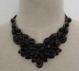 2016 de Met de hand gemaakte Halsband van de Kraag van de Nauwsluitende halsketting van het Kostuum van de Slab van de Charme van de Manier van het Kristal van de Parel Ruige (JE0006)