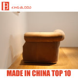 Мебели софы Nubuck кожаный Chesterfield роскошной живущий комнаты хаки