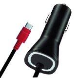 빨간 LED 가벼운 휴대용 Verizon QC2.0 유형 C 차 충전기