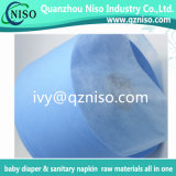 Nonwoven blu di strato di aquisizione di colore 30GSM per le materie prime Adl del pannolino del bambino