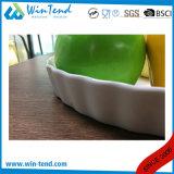 Prato branco da torta da porcelana do Manufactory por atacado